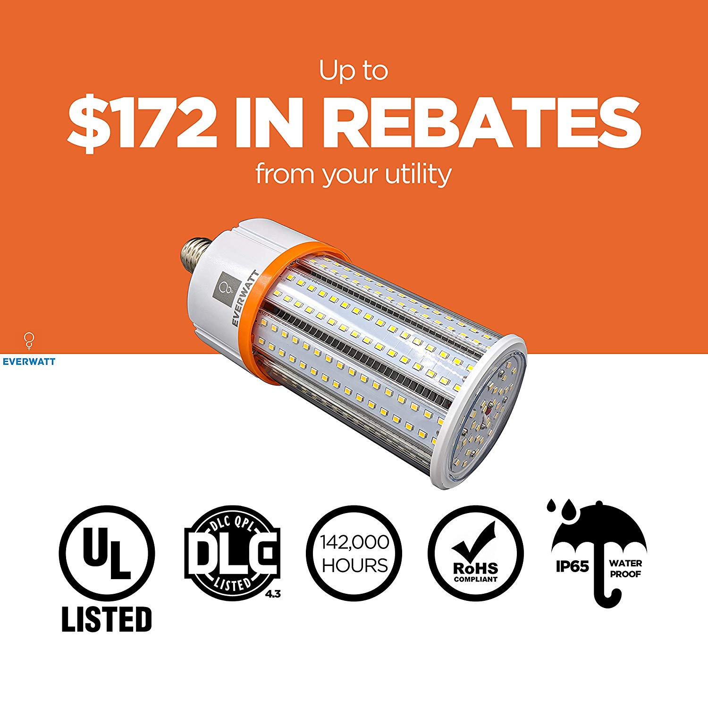 60w Led Corn Light Bulb Standard E26 Base 8115 Lumens