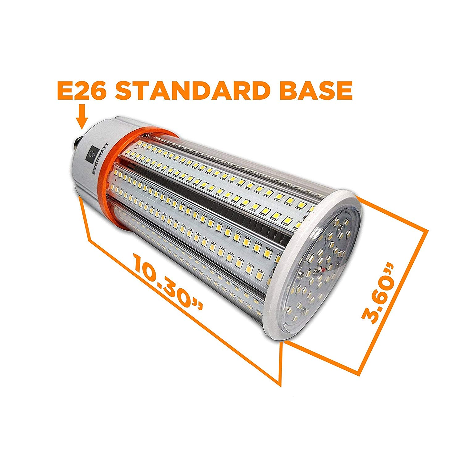 60w Led Corn Light Bulb Standard E26 Base 8115 Lumens