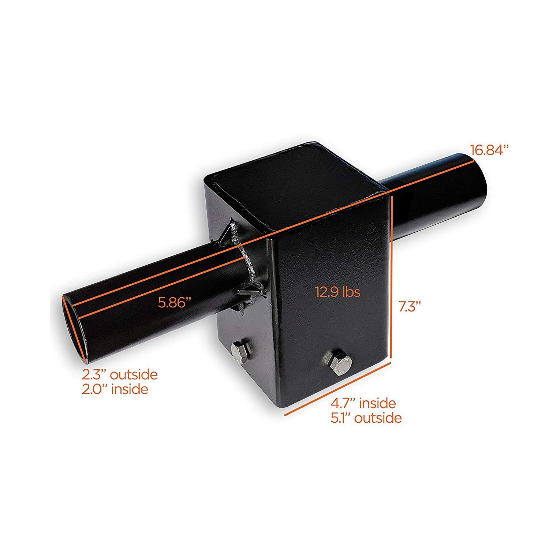"EverWatt T-Shape Tenon Adapter 4"" Square Poles 2-Heads Use"