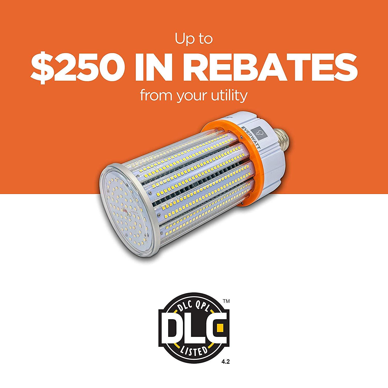 100w Led 5000k Corn Light Bulb Mogul E39 Base