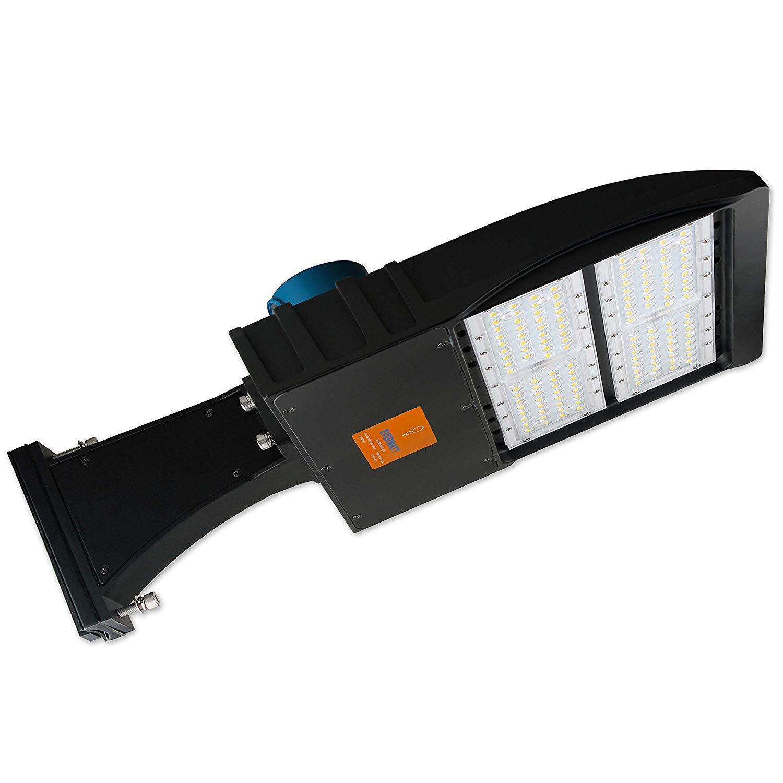 Parking Lot Lights Design: EverWatt LED Shoebox Outdoor Street Pole Parking Lot Light