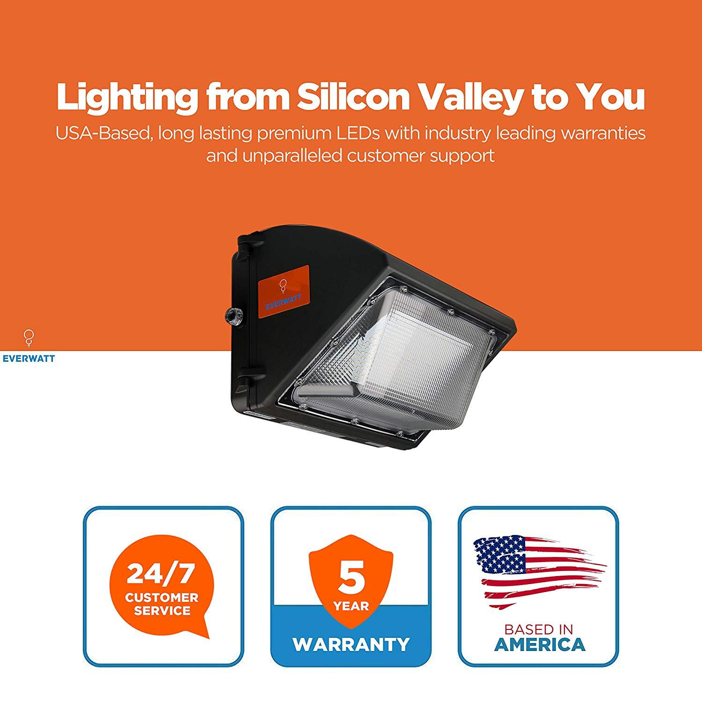 400 Watt Led Wall Pack Lights: 60W LED Outdoor Wall Pack Light, 5000K Cool