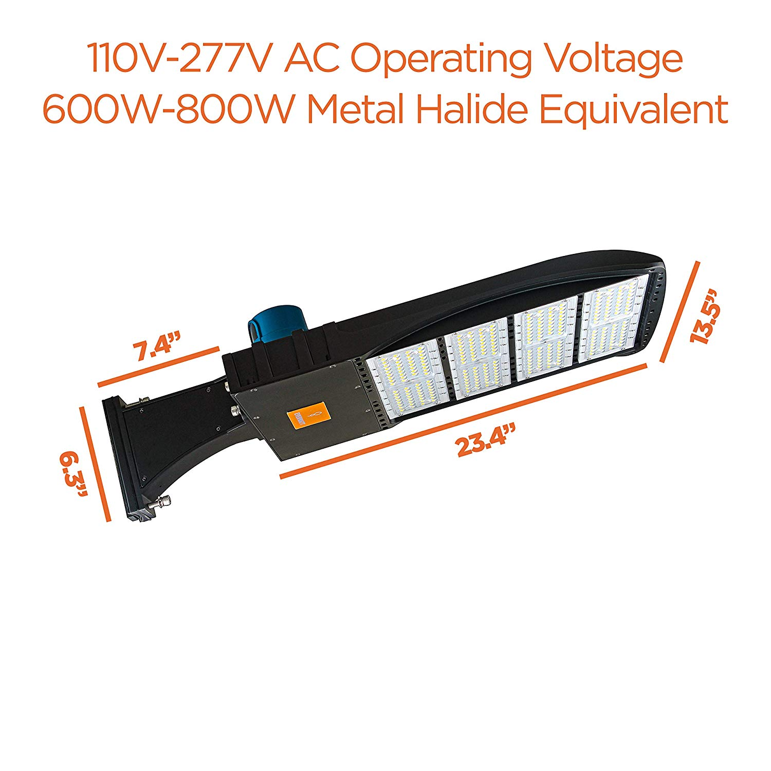 Everwatt 240w Led Outdoor Parking Lot Light With Photocell