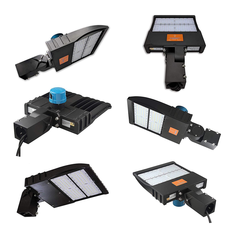 Everwatt 120w Led Outdoor Parking Lot Light With Photocell Sensor Photocells For Lights