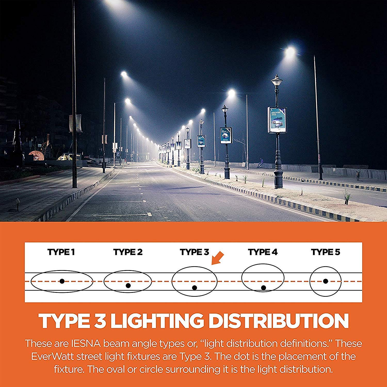 Everwatt 60w Led Outdoor Parking Lot Light With Photocell Sensor Photocells For Lights