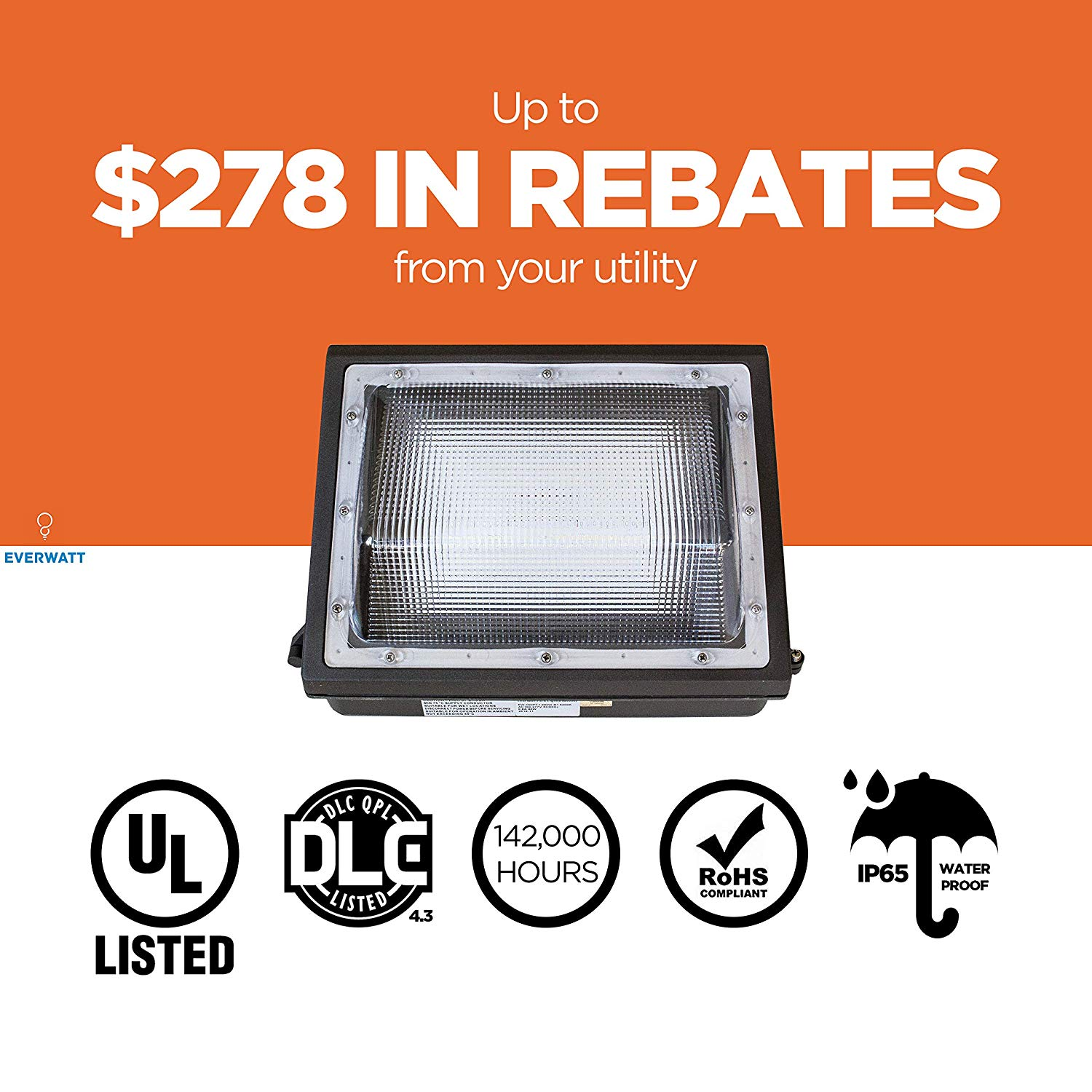 Ul Amp Dlc 100w Led Outdoor Wall Pack Light 5000k Cool